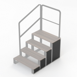 Naxos Side Panels for 4 Tier steps