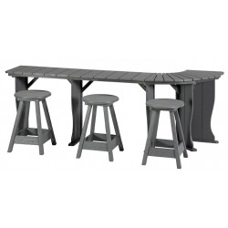 """Table ( 71"""" 17"""" Deep Monterey Grey ) ( left Hand cut for lifter )"""