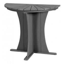 "Half Round Table ( 36"" free standing Monterey Grey )"