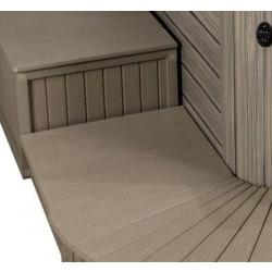 """Single Tier Enclosed Spa Steps ( 22"""" x 22"""" Monterey Grey )"""